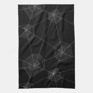 Spider Webs Black Kitchen Towel