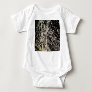 Spider webs with dew drops baby bodysuit