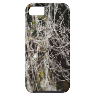 Spider webs with dew drops iPhone 5 cover