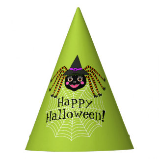 Spider Witch Halloween Party Hat