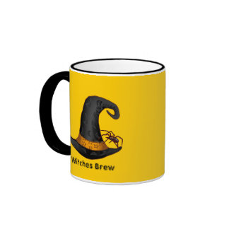 Spider Witch Hat Coffee Mugs