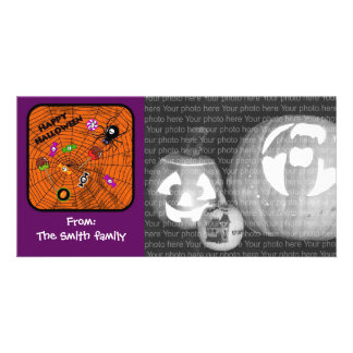 Spider with candies picture card