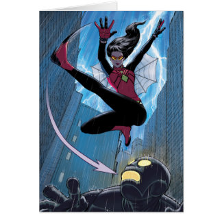Spider-Woman Getting The Drop On Villain Card
