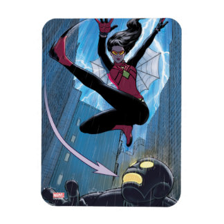 Spider-Woman Getting The Drop On Villain Magnet