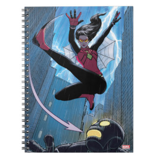 Spider-Woman Getting The Drop On Villain Notebook