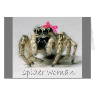Spider Woman with pink bow Card