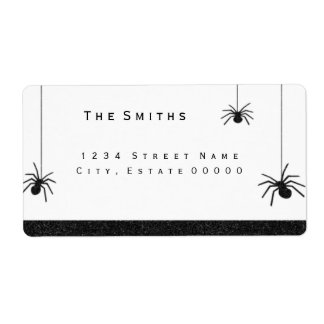 Spiders and stripes address label