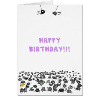 Spiders Birthday Card