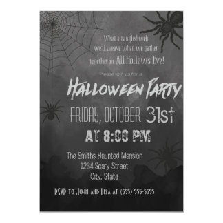 Spiders Halloween Party Invitation