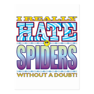 Spiders Hate Face Postcard