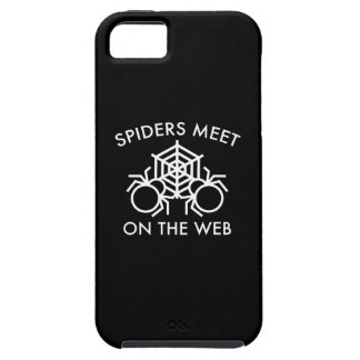 Spiders Meet On The Web iPhone 5 Case