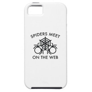 Spiders Meet On The Web iPhone 5 Cover