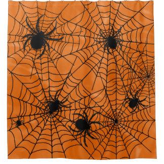 Spiders Web Halloween Shower Curtain