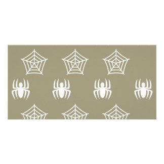 Spiders Webs Stationary for Halloween Customized Photo Card