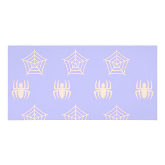 Spiders Webs Stationary for Halloween Personalised Photo Card