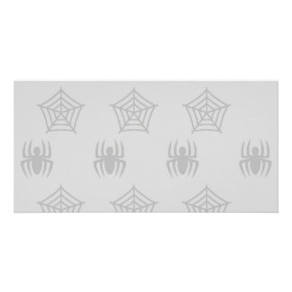 Spiders Webs Stationary for Halloween Photo Card
