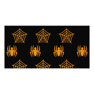 Spiders Webs Stationary for Halloween Photo Card Template