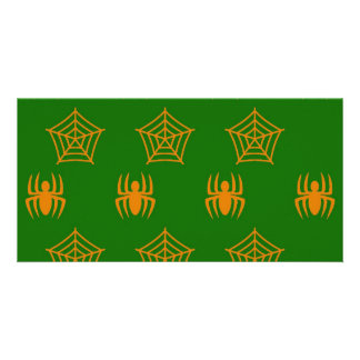 Spiders Webs Stationary for Halloween Picture Card