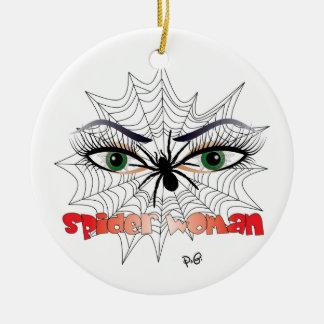 Spiders - woman/ornamentation ceramic ornament