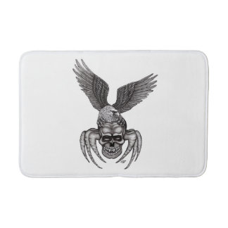 Spiderskull with Eagle Bath Mat
