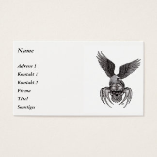 Spiderskull with Eagle Business Card