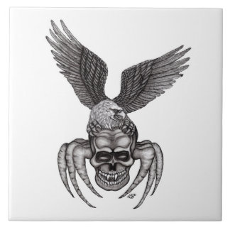 Spiderskull with Eagle Ceramic Tile