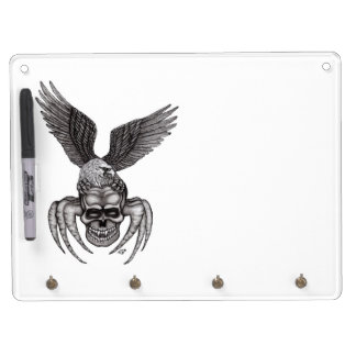 Spiderskull with Eagle Dry Erase Board With Key Ring Holder
