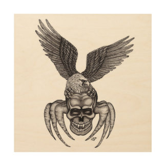 Spiderskull with Eagle Wood Wall Art