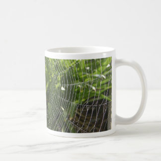 Spiderweb Covered With Dew In The Morning Coffee Mugs