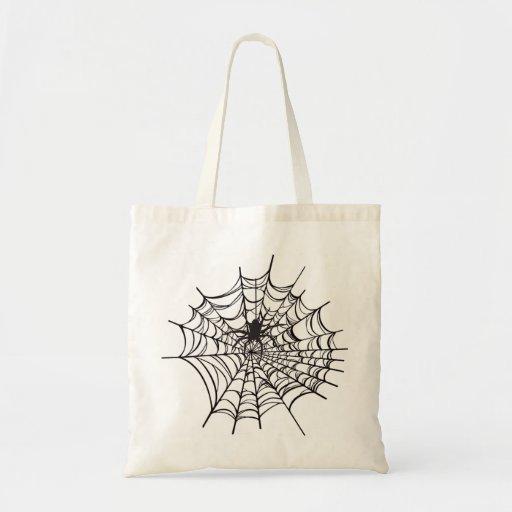 Spiderweb Halloween Tote Bag