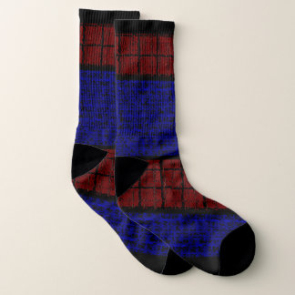 Spiderweb-Man Dotted blue Red Printed Socks