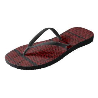 Spiderweb-Man Red-Black Flip Flops