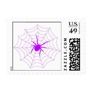 Spiderweb Postage Stamp (Purple)