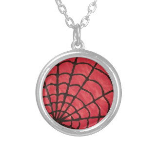 Spiderweb Silver Plated Necklace