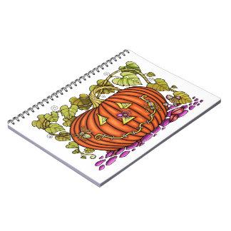 Spidery Jack O'Lantern Notebooks