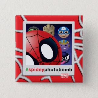 #spideyphotobomb Spider-Man Emoji 15 Cm Square Badge