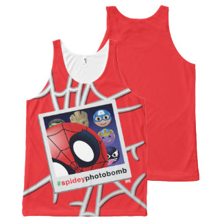 #spideyphotobomb Spider-Man Emoji All-Over Print Singlet