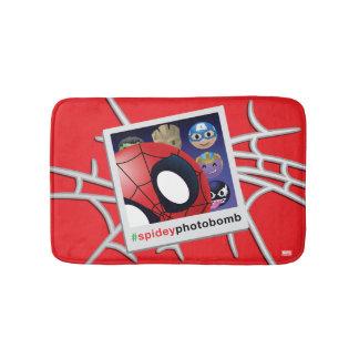 #spideyphotobomb Spider-Man Emoji Bath Mat