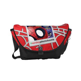 #spideyphotobomb Spider-Man Emoji Courier Bags