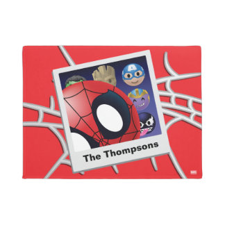 #spideyphotobomb Spider-Man Emoji Doormat