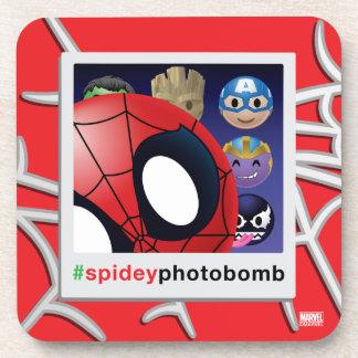 #spideyphotobomb Spider-Man Emoji Drink Coasters