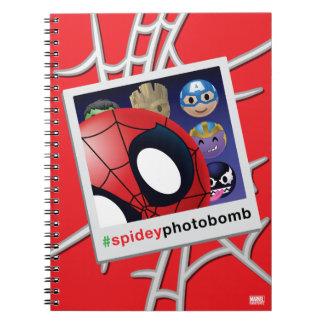 #spideyphotobomb Spider-Man Emoji Notebook