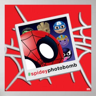 #spideyphotobomb Spider-Man Emoji Poster
