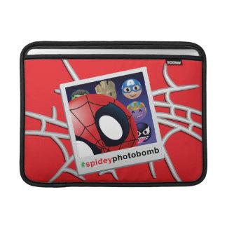 #spideyphotobomb Spider-Man Emoji Sleeve For MacBook Air