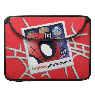 #spideyphotobomb Spider-Man Emoji Sleeve For MacBook Pro