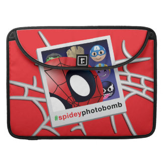 #spideyphotobomb Spider-Man Emoji Sleeve For MacBooks