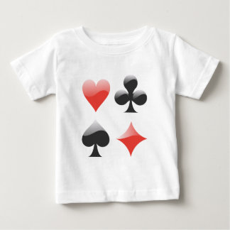 Spielkarten colors playing cards suits baby T-Shirt