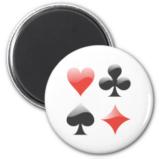 Spielkarten colors playing cards suits magnet