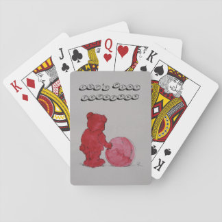 "Spielkarten motive ""play with me "" playing cards"