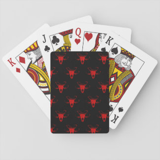 Spielkarten with skull sheep playing cards